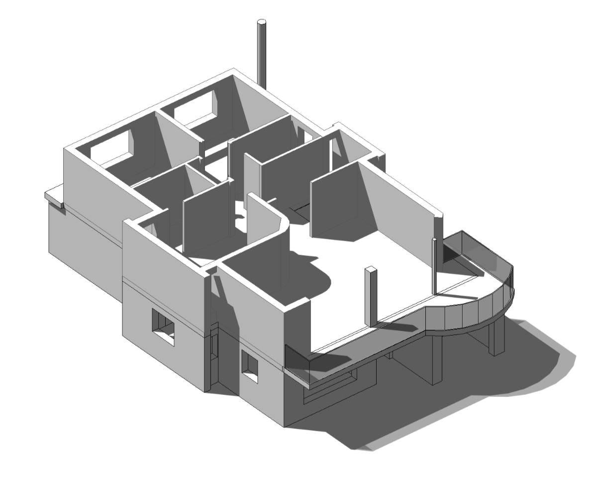 Computer generated isometric of the first floor