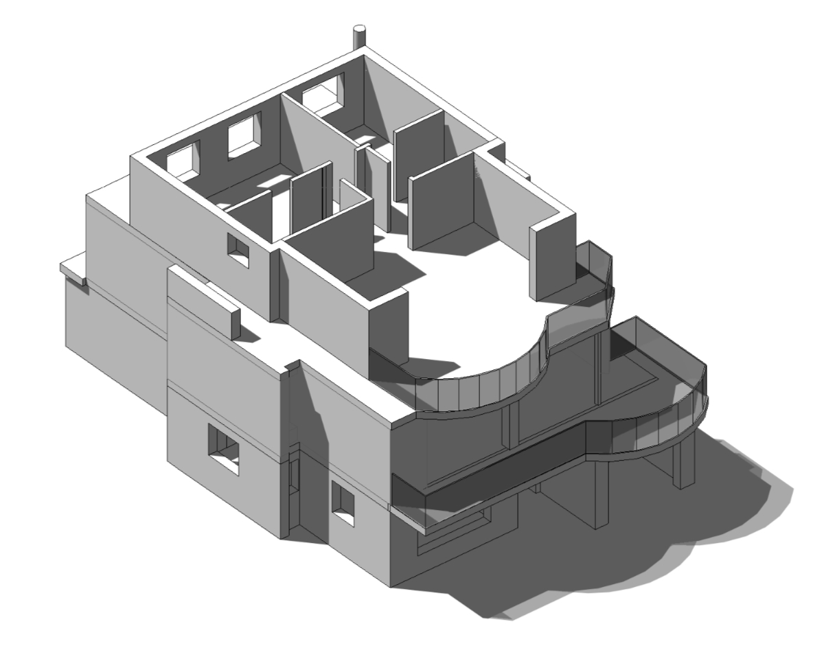 Top floor isometric computer generated view